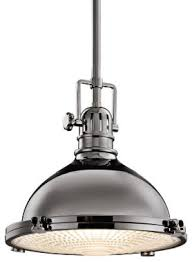 Industrial Pendant Light Kichler Industrial 12 Inch Retro Pendant With Fresnel Glass