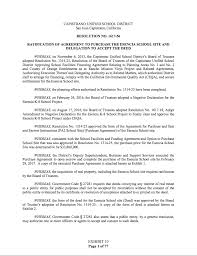 Letter Of Intent For Purchase Of Real Property by March 22 2017 Board Meeting Agenda Item 22 Resolution No 1617 56