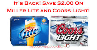 coors light on sale near me save 2 00 on miller lite and coors light