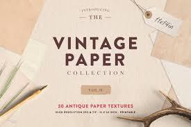 the vintage paper collection vol 01 textures creative market