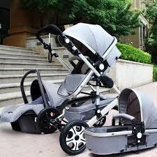 siege auto nouveau né de luxe multi fonction chariot bébé poussette 3 en 1 haute paysage