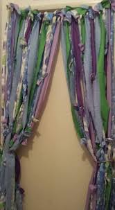 Hippie Curtains Boho Rag Curtains With Beads Hippie Style Curtains Beaded
