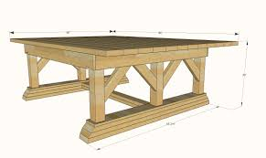 Outside Table Plans Free by Ana White Double Trestle Outdoor Table Diy Projects