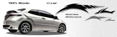 honda car styles blade automotive vinyl graphics and decals kit shown on honda