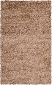 lush dark beige shag rug milan collection safavieh com