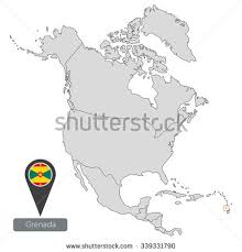 grenada location on world map map antigua barbuda official flag location stock vector 339331724