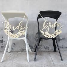 Bride And Groom Chair Signs Aliexpress Com Buy Groom And Bride Chair Back Signs Olive Branch