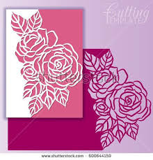 envelope border pattern paper greeting card with lace border pattern of roses cut out