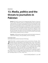 journalists jobs in pakistan airport security 13 media politics and the threats to pdf download available