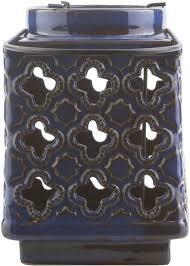 Surya Home Decor Luau Contemporary Cobalt Color Lantern Home Decor Surya