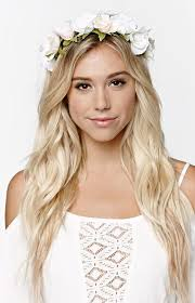 white flower headband with from ca oversized flower crown where to buy how to wear