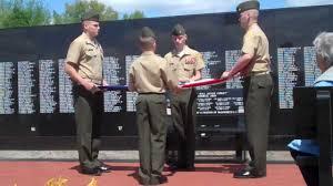 Flag Folding Ceremony Chesty Puller Young Marines 5 9 2010 Flag Folding Youtube