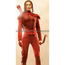 Mockingjay Halloween Costume 2 Hunger Games Red Leather Costume
