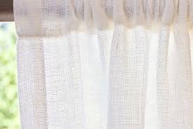Fabric Drapes Open Weave Curtains Tutorial