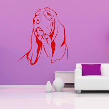 sell home decor free shipping basset hound dog vinyl wall art