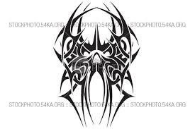 skull tribal vector design graphics vector 54ka