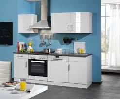 Billige K Henblock Küchenzeile Nevada Küche Mit E Geräten Breite 220 Cm