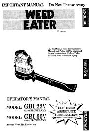 weedeater service manual what to look for when buying weedeater