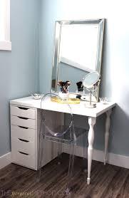ikea makeup vanity diy how to make a customized ikea makeup vanity the gorgeous method