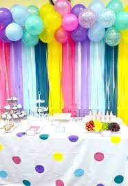 streamer backdrop birthday party decoration ideas this balloon and streamer backdrop