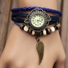 leather bracelet girl images Handmade leather strap watches woman girl quartz wrist watch jpg