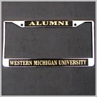 michigan state alumni license plate frame auto wmu online