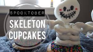 skeleton pretzel cupcakes spooktober youtube