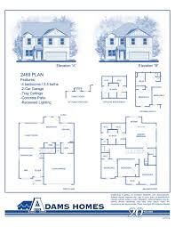 5 bedroom 4 bathroom house plans northpointe village adams homes