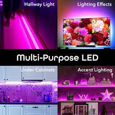 home depot kitchen cabinet lighting geeni 32 8 ft multi color smart wi fi led lights