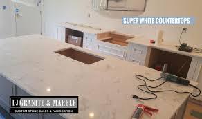 kitchen island sink super white quartzite countertop sale chicago il wi in