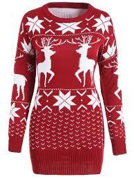 maple leaf deer tunic sweater wine sweaters one