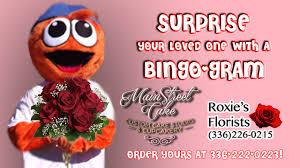 send a gram send a bingo gram this s day burlington royals news