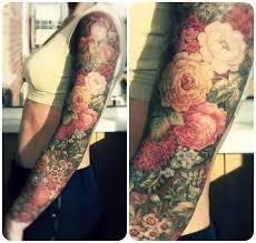 tattoo train beautiful roses tattoos drawn on full arm floral