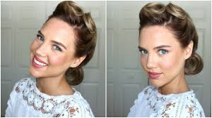 1940s hairstyle victory rolls youtube
