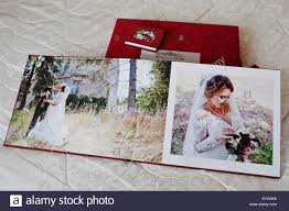 white wedding album pages of wedding photobook or wedding album on white