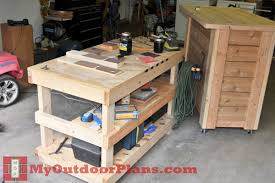 Free Wood Workbench Designs by Diy Wood Workbench Plans Myoutdoorplans Free Woodworking Plans