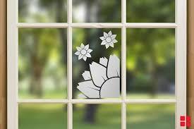 diy window with peelable spray paint