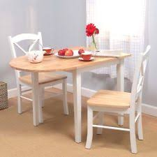 kitchen dining set table chairs folding drop leaf white small