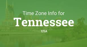 Us Map Time Zones Time Zones In Tennessee United States