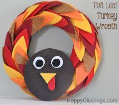 diy felt leaf turkey wreath