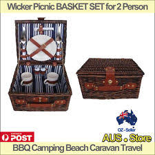 picnic basket set for 2 sunnylife picnic basket for 2 bronte ebay