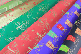metallic paper with design printed gift wrapping paper metallized