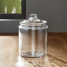 Bathroom Jars With Lids Heritage Hill 64 Oz Glass Jar With Lid Crate And Barrel