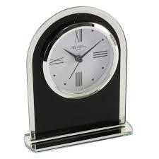 Mantel Clocks Wm Widdop Black U0026 Clear Arched Mantel Clock