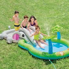 Plastic Swimming Pools At Walmart Intex Elephant Inflatable Play Center Pool Walmart Com