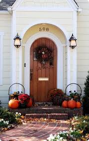 front door fall welcome outdoor thanksgiving porch doors and