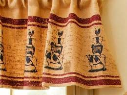 Cow Print Kitchen Curtains Primitive Country Farmhouse Chic Burlap Cow Pig Sheep Chicken