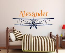 sticker pour chambre grande taille personnalisée avion nom sticker personnalisé nom de