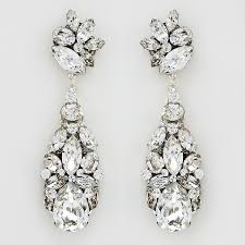 bridal chandelier earrings cheryl king couture large bridal chandelier earrings
