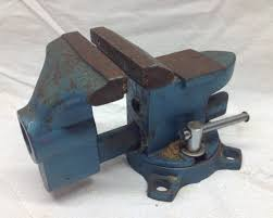 unique teal work bench vise vintage workshop bench top vise